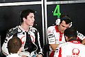 February 4, 2010 - Kuala Lampur, Malaysia - Pramac Racing rider Aleix Espargar&oacute; talks to his mechanics during MotoGP testing on Sepang International Circuit on February 4, 2010. (Photo Andrew Northcott/Nippon News)