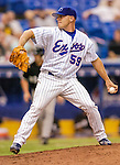 18 June 2004: Montreal Expos pitcher Joe Horgan, on the mound against the Chicago White Sox at Olympic Stadium in Montreal, Quebec. The White Sox defeated the Expos 11-7 in interleague play. Mandatory Credit: Ed Wolfstein Photo