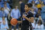 02 March 2014: Duke's Ka'lia Johnson. The University of North Carolina Tar Heels played the Duke University Blue Devils in an NCAA Division I women's basketball game at Carmichael Arena in Chapel Hill, North Carolina. UNC won the game 64-60.