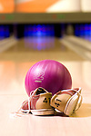 Bowling shoes, ball and lane - KUKUBARA - Bowling Center & Hotel