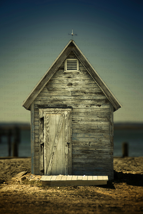Weatered fishing shed