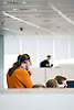 Digital. Barcelona 04/12/08 - .Employees working at office - (c) Vicens Gimenez