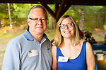 Watertown, CT- 18 May 2017-051817CM20- SOCIAL MOMENTS-- From left, Nick Germak of Newtown and Barbara Diorio of Middlebury  are photographed during the annual Greater Waterbury Campership Fund picnic at Camp Mataucha in Watertown on Thursday.   Christopher Massa Republican-American
