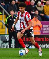 Lincoln City's Lee Angol<br /> <br /> Photographer Andrew Vaughan/CameraSport<br /> <br /> Buildbase FA Trophy Semi Final Second Leg - Lincoln City v York City - Saturday 18th March 2017 - Sincil Bank - Lincoln<br />  <br /> World Copyright &copy; 2017 CameraSport. All rights reserved. 43 Linden Ave. Countesthorpe. Leicester. England. LE8 5PG - Tel: +44 (0) 116 277 4147 - admin@camerasport.com - www.camerasport.com