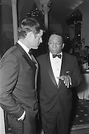 January 27th 1971, Washington DC,  Reception at the Spanish Embassy in Washington. Senator Edward Kennedy talking with Washington DC Mayor Walter E. Washington.