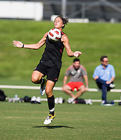 Abby Wambach. The USWNT practice at WakeMed Soccer Park in preparation for their game with Japan.