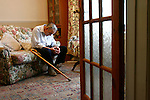 The Times/Money/Anglia Press Agency..Rodney Hughes, 71, at his home in Mundford, Norfolk. On how he's coping better financially after claiming Government benefits back from the Department for Work and Pensions, partly in thanks to his local MP Christopher Fraser. 23rd Sept 2008..Picture by Mark Bullimore/Anglia Press Agency