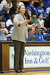 23 November 2012: Valpo head coach Tracey Dorow. The Duke University Blue Devils played the Valparaiso University Crusaders at Cameron Indoor Stadium in Durham, North Carolina in an NCAA Division I Women's Basketball game. Duke won the game 90-45.