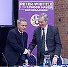 UKIP launch London Manifesto 2016 <br /> with Candidates for mayor and the London Assembly <br /> at the Emmanuel Centre, London, Great Britain <br /> 19th April 2016 <br /> <br /> Nigel Farage <br /> Leader of UKIP <br /> <br /> Peter Whittle <br /> Candidate for mayor of London <br /> <br /> <br /> <br /> <br /> Photograph by Elliott Franks <br /> Image licensed to Elliott Franks Photography Services