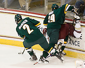 Drew MacKenzie (Vermont - 2), Matt White (Vermont - 19), Cam Atkinson (BC - 13) - The Boston College Eagles defeated the visiting University of Vermont Catamounts 6-0 on Sunday, November 28, 2010, at Conte Forum in Chestnut Hill, Massachusetts.