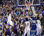 UK forward Alex Poythress goes for a shot undefended by LSU during the first half of the men's basketball game vs. LSU at Rupp Arena, in Lexington, Ky., on Saturday, January 26, 2013. Photo by Genevieve Adams  | Staff.
