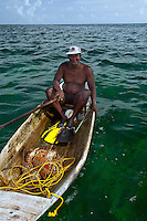 Lobster fisherman in Belize