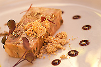 "Hudson Valley Foie Gras Torchon.Peanut Butter ""crumbs"" / vanilla scented sea salt Hinds Restaurant.Cruz Bay, St John"