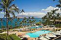Wailea Beach Marriott Resort &amp; Spa swimming pool area; Maui, Hawaii.