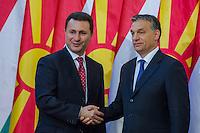 Nikola Gruevski Macedonian PM visits Viktor Orban
