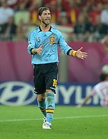 FUSSBALL  EUROPAMEISTERSCHAFT 2012   VORRUNDE Kroatien - Spanien                 18.06.2012 Sergio Ramos (Spanien)