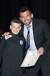 St Johnstone FC Youth Academy Presentation Night at Perth Concert Hall..21.04.14<br /> Callum Davidson presents to Sean Hastie<br /> Picture by Graeme Hart.<br /> Copyright Perthshire Picture Agency<br /> Tel: 01738 623350  Mobile: 07990 594431
