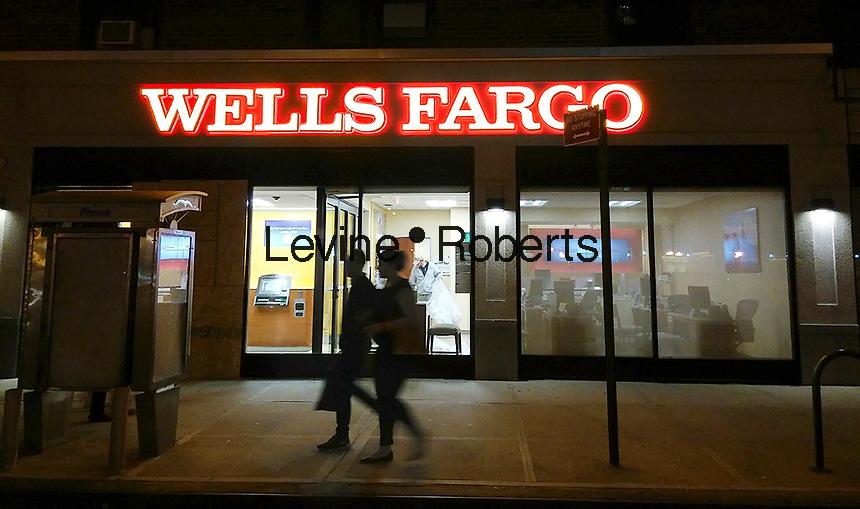 A branch of Wells Fargo in New York on Wednesday, October 19, 2016. (© Richard B. Levine)