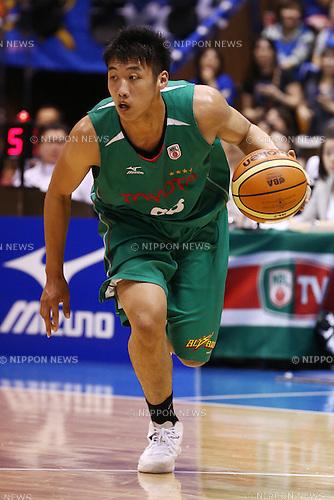Tenketsu Harimoto (Toyota),<br /> MAY 25, 2015 - Basketball : <br /> National Basketball League &quot;NBL&quot; Playoff FINALS 2014-2015 <br /> GAME 3 match between <br /> TOYOTA ALVARK TOKYO 69-81 AISIN SeaHorses Mikawa<br /> at 2nd Yoyogi Gymnasium, Tokyo, Japan. <br /> (Photo by Shingo Ito/AFLO SPORT)