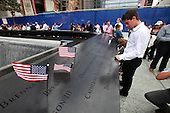 On the 10th anniversary of the September 11th attacks, the scene at the North Memorial Pool at opening day of the September 11th Memorial at the World Trade Center site in New York, New York on Sunday, September 11, 2011..Credit: Jefferson Siegel / Pool via CNP