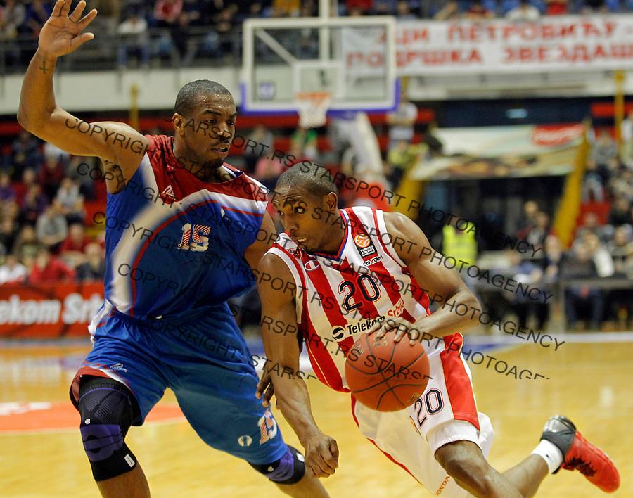 DeMarcus Nelson Eurocup basketball game between Crvena Zvezda and Panionios in Pionir Arena on January 22, 2014. in Belgrade, Serbia (credit image & photo: Pedja Milosavljevic / STARSPORT / +318 64 1260 959 / thepedja@gmail.com)