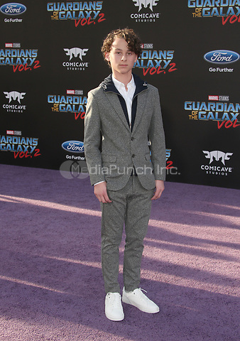 """HOLLYWOOD, CA - April 19: Wyatt Oleff, At Premiere Of Disney And Marvel's """"Guardians Of The Galaxy Vol. 2"""" At The Dolby Theatre  In California on April 19, 2017. Credit: FS/MediaPunch"""