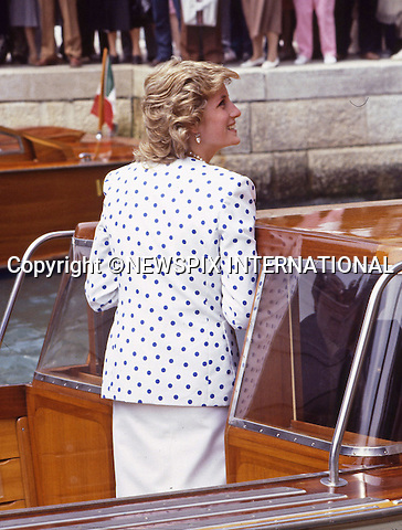 "PRINCE CHARLES AND PRINCESS DIANA.Venice, Italy_May 1985.©FRANCIS DIAS - NEWSPIX INTERNATIONAL..Mandatory credit photo:NEWSPIX INTERNATIONAL(Failure to credit will incur a surcharge of 100% of reproduction fees)..**ALL FEES PAYABLE TO: ""NEWSPIX  INTERNATIONAL""**..Newspix International, 31 Chinnery Hill, Bishop's Stortford, ENGLAND CM23 3PS.Tel:+441279 324672.Fax: +441279656877.Mobile:  07775681153.e-mail: info@newspixinternational.co.uk"