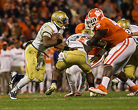The eighth ranked Clemson Tigers defeat the Georgia Tech Yellow Jackets at Death Valley 55-31 in an ACC matchup.Georgia Tech Yellow Jackets quarterback Vad Lee (2)