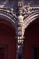 Architectural detail (caryatid) in the courtyard of the Museo de Arte de Queretaro in the city of Queretaro, Mexico. The historic centre of Queretaro is a UNESCO World Heritage Site.