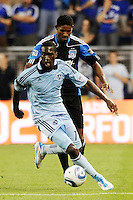 C.J Sapong (17) forward Sporting KC in action...Sporting KC defeated San Jose Earthquakes 1-0 at LIVESTRONG Sporting Park, Kansas City ,Kansas,..