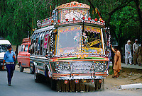 A decorated bus in Islamabad, Pakistan