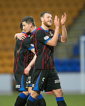 St Johnstone v Inverness Caledonian Thistle....22.02.14    SPFL<br /> Gary Warrne applauds the travelling fans at full time<br /> Picture by Graeme Hart.<br /> Copyright Perthshire Picture Agency<br /> Tel: 01738 623350  Mobile: 07990 594431