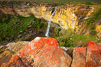 Nieuwoudville Waterfall  Northern Cape Area, South Africa  Bokveld escarpment   300 foot falls on Doring River