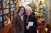 Wendy Jones, author, and Jenny Ellis, Leila's daughter, at the event to discuss Leila Berg's contribution to radical education and children's lives, Houseman's bookshop, London, 22nd May 2013.