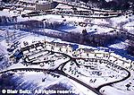 Aerial, Southwest PA, Ski Resort and Condominiums, Laurel Highlands Aerial Photograph Pennsylvania