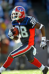 19 October 2008:  Buffalo Bills' cornerback Leodis McKelvin in action against the San Diego Chargers at Ralph Wilson Stadium in Orchard Park, NY. The Bills defeated the Chargers 23-14 and maintain their first place position in the AFC East with a 5 and 1 record...Mandatory Photo Credit: Ed Wolfstein Photo