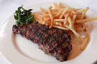 NY Strip Steak Frites at The Odean in Manhattan...(April 2, 2011).Photo by Danny Ghitis