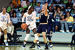 22 January 2017: North Carolina's Destinee Walker (24) and Notre Dame's Marina Mabrey (3). The University of North Carolina Tar Heels hosted the University of Notre Dame Fighting Irish at Carmichael Arena in Chapel Hill, North Carolina in a 2016-17 NCAA Division I Women's Basketball game. Notre Dame won the game 77-55