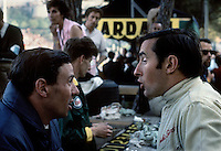 Scottish Formula One (Grand Prix) drivers Jim Cark (twice world champion) and Jackie Stewart (three times world champion). Were they speaking English or Scottish Gaelic?