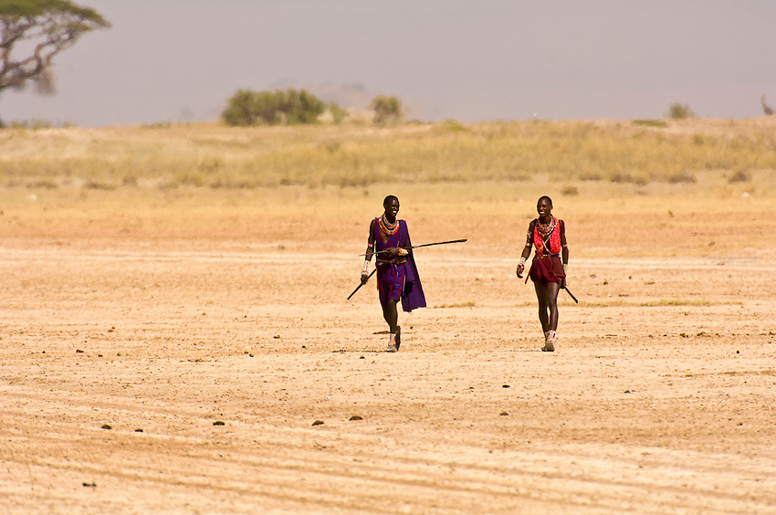 Maasai warriors, Amboseli National Park, Kenya