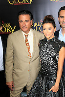 "LOS ANGELES - MAY 31:  Andy Garcia, Eva Longoria arriving at the ""For Greater Glory"" Premiere at AMPAS Theater on May 31, 2012 in Beverly Hills, CA"