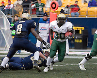 South Florida running back Benjamin Williams (30) scores on a six-yard run as the South Florida Bulls defeated the Pitt Panthers 48-37 on November 24, 2007 at Heinz Field, Pittsburgh, Pennsylvania.