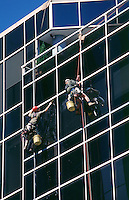 Office window cleaners.<br /> <br /> Larger JPEG + TIFF images available by contacting use through our contact page at :..www.photography4business.com