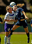2 September 2007: University of Central Arkansas Sugar Bears' Emileigh Selman (left), a Freshman from Brandon, Miss., battles University of New Hampshire Wildcats' Morgan Keefe, a Sophomore from South Burlington, VT, at Historic Centennial Field in Burlington, Vermont. The Wilcats shut out the Sugar Bears 3-0 during the TD Banknorth Soccer Classic...Mandatory Photo Credit: Ed Wolfstein Photo