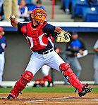 4 March 2009: Washington Nationals' catcher Luke Montz in action during a Spring Training game against the New York Mets at Space Coast Stadium in Viera, Florida. The Nationals rallied to defeat the Mets 6-4 . Mandatory Photo Credit: Ed Wolfstein Photo