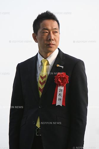 Akira Murayama,<br /> JANUARY 25, 2015 - Horse Racing :<br /> Trainer Akira Murayama after Copano Rickey won the Tokai TV Hai Tokai Stakes at Chukyo Racecourse in Aichi, Japan. (Photo by Eiichi Yamane/AFLO)
