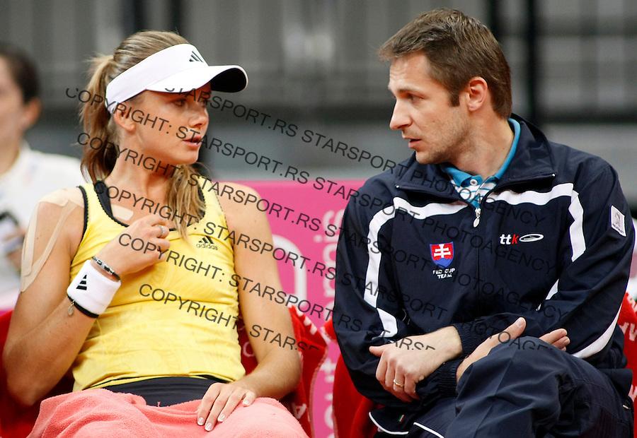 Tenis, Fed Cup 2010.Serbia Vs. Slovakia.Bojana Jovanovska Vs. Daniela Hantuchova.Daniela Hantuchova and Matej Liptak.Belgrade, 24.04.2010..foto: Srdjan Stevanovic/Starsportphoto ©