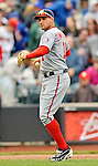 11 April 2012: Washington Nationals third baseman Ryan Zimmerman in action against the New York Mets at Citi Field in Flushing, New York. The Nationals shut out the Mets 4-0 to take the rubber match of their 3-game series. Mandatory Credit: Ed Wolfstein Photo