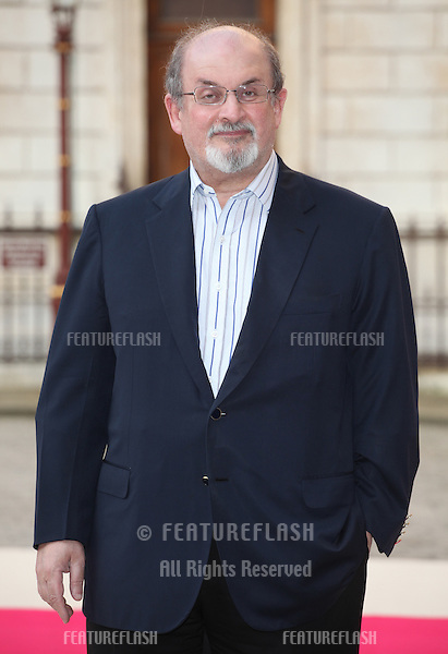 Salman Rushdie arriving for the Royal Academy of Arts Summer Exhibition Party, at the Royal Academy of Arts, London. 30/05/2012 Picture by: Alexandra Glen / Featureflash
