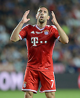 FUSSBALL  SUPERCUP  FINALE  2013  in Prag    FC Bayern Muenchen - FC Chelsea London          30.08.2013 Franck Ribery (FC Bayern Muenchen) enttaeuscht